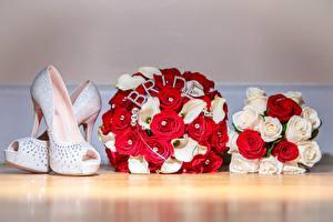 Фотография Букет Розы Туфель Свадьбы цветок