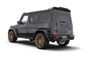 Обои Брабус Гелентваген Мерседес бенц Белом фоне Черная G63, 800, W463, 2020 авто