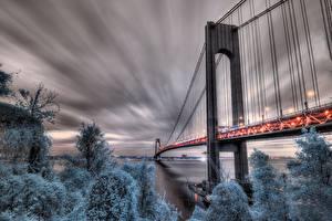 Фото Мост США HDRI New York, Fort Wadsworth Города