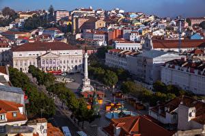 Фото Здания Португалия Сверху Городская площадь Lisbon, Sacramento Города