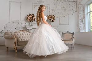 Картинка Платье Невеста Причёска Красивый Igor Kondukov молодые женщины