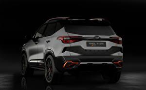 Фотографии Киа Сзади Серая Кроссовер Kia Seltos X-Line Concept 2020 Автомобили