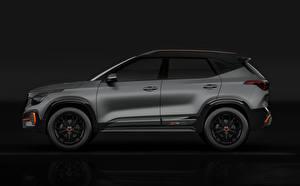 Картинка Киа Серая Сбоку Kia Seltos X-Line Concept 2020 авто