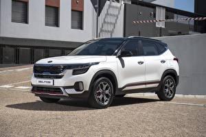 Фотография KIA Белая Металлик CUV Seltos GT-Line 2019 авто