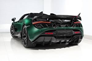 Картинка Макларен Вид сзади Зеленая Металлик Углепластик Spider, TopCar, Fury, 2020, 720S