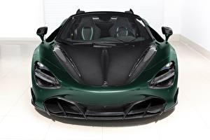Картинка Макларен Спереди Зеленая Карбоновая Spider, TopCar, Fury, 2020, 720S машина