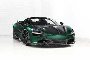 Картинка McLaren Зеленый Металлик Карбоновый Spider, TopCar, Fury, 2020, 720S авто