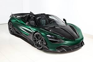 Фото Макларен Зеленая Карбоновый Металлик Родстер Spider, TopCar, Fury, 2020, 720S машина