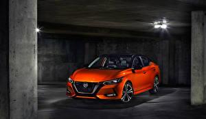 Картинка Nissan Оранжевый 2020 Sentra SR машина