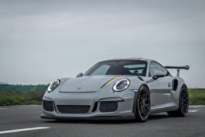 Фото Порше Серая Металлик 911, GT3 авто