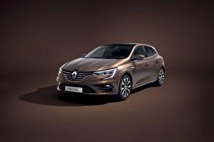 Обои Renault Цветной фон Металлик Седан Коричневый Megane Worldwide 2020 Автомобили