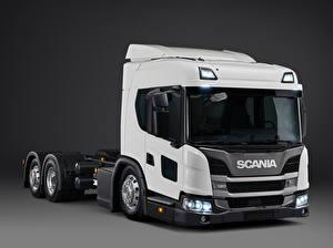 Фото Scania Грузовики Белые L 320 6x2 '2018 машина