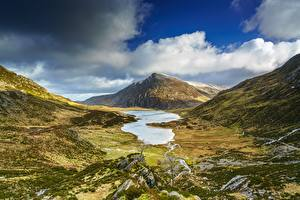Обои Небо Гора Великобритания Облачно Уэльс Snowdonia National Park, Gwynedd Природа