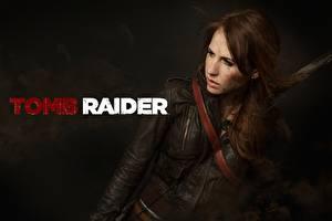 Фото Tomb Raider Лара Крофт Косплей Шатенки Куртке A Survivor Is Born девушка