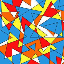 Фотография Векторная графика Текстура Разноцветные треугольники