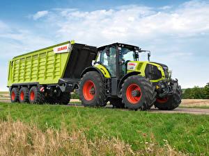 Обои для рабочего стола Сельскохозяйственная техника Тракторы 2013-20 Claas Axion 850