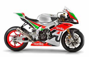 Обои для рабочего стола Aprilia Тюнинг Белом фоне 2017 RSV4 FW-GP мотоцикл