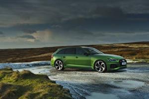 Фото Ауди Зеленая Универсал 2020 RS 4 Avant