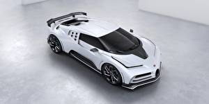 Обои BUGATTI Белый Металлик Sportscar, 2020, Centodieci автомобиль