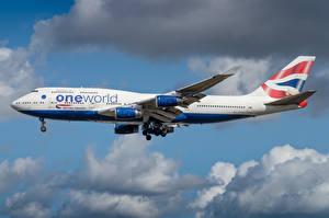 Фотографии Боинг Самолеты Пассажирские Самолеты Сбоку British Airways Авиация