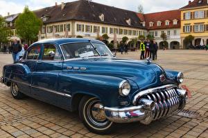 Обои для рабочего стола Бьюик Ретро Синих Металлик 1949 Special Tourback машины