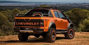 Фотография Шевроле Оранжевая Вид сзади Пикап кузов 4x4 Colorado Z71 2016 Xtreme Concept авто