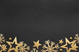 Фотография Рождество Снежинка Звездочки Шаблон поздравительной открытки На черном фоне