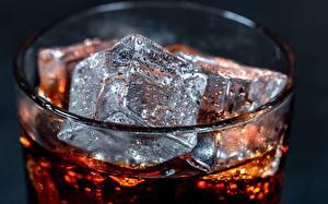 Обои для рабочего стола Вблизи Кока-кола Льда Капля Стакане Пища