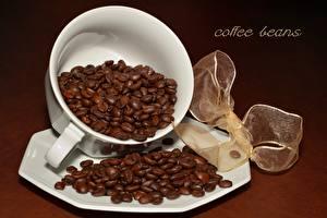 Фотография Кофе Кружки Зерно Бантики Слова Английская