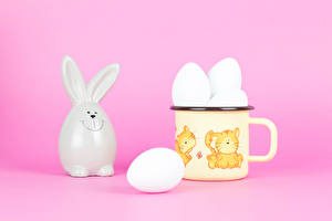 Фотографии Пасха Кролик Кружка Кружки Яйцо