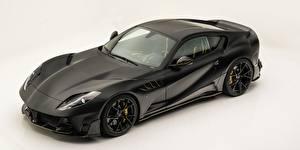 Фото Феррари Сером фоне Углепластик Черная Mansory, Superfast, 812, 2019, Stallone Black авто