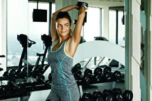 Обои Фитнес Рука Позирует спортивные Девушки
