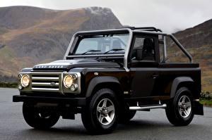 Обои Range Rover Черная Сбоку SUV Пикап кузов Defender, SVX, 60th Anniversary Edition авто