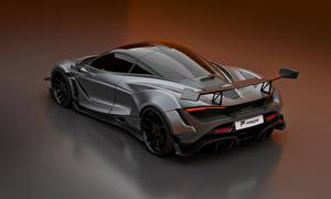 Обои McLaren Серый Металлик 2020, 720S, widebody kit, Prior Design Автомобили