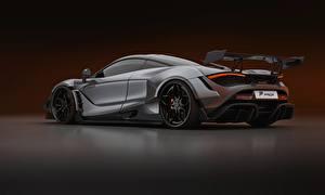 Обои Макларен Сбоку Карбоновая Prior Design, 2020, 720S, widebody kit автомобиль