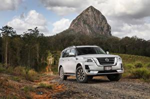 Фото Nissan SUV Металлик Белая 2019-20 Patrol Ti-L машины
