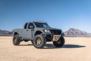 Обои для рабочего стола Ниссан Серые Пикап кузов 2019 Frontier Desert Runner автомобиль