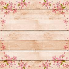 Картинка Рисованные Доски Шаблон поздравительной открытки Цветы