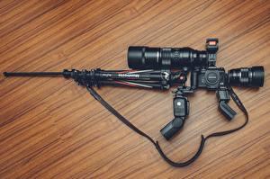 Картинки Винтовка Снайперская винтовка Оригинальные Объектив Фотоаппарат