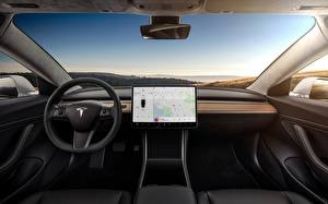 Обои Салоны Tesla Motors model 3
