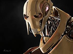 Картинка Звездные войны Рисованные Киборги Головы General Grievous Фантастика