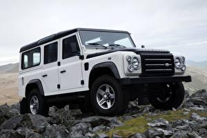 Фотографии Камень Range Rover Белая Внедорожник 2009, Defender, Limited Edition авто