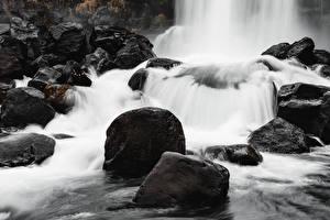 Фотография Камни Речка Водопады