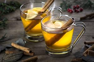Обои Чай Лимоны Корица Кружка Еда