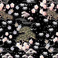 Картинка Текстура Векторная графика На черном фоне