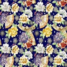 Обои Орнамент Текстура Векторная графика цветок