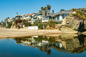 Фото Штаты Берег Здания Калифорнии Laguna Beach город