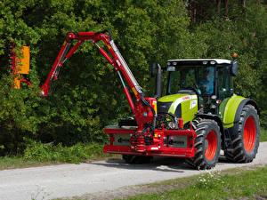 Картинки Сельскохозяйственная техника Тракторы 2007-12 Claas Arion 540