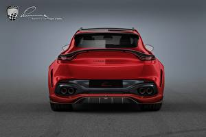 Фотография Aston Martin Сзади Красная Lumma Design DBX CLR AM машина