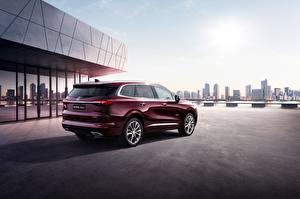 Фотография Бьюик Темно красный Enclave 2019 Автомобили
